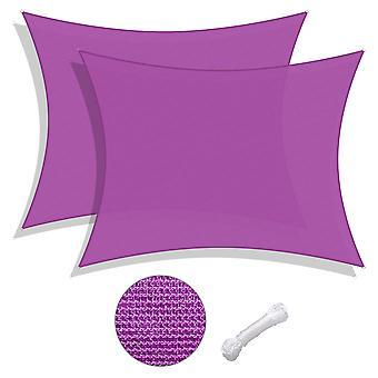 Yescom 2 Pack 16x12 Ft 97% UV Block Rectangle Sun Shade Sail Canopy Outdoor Backyard