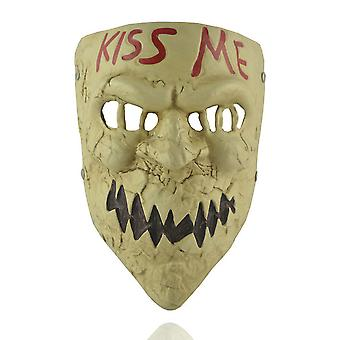 Kiss Me Mask Demon Cosplay Halloween Horror Resin Masker Rekwisieten