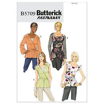 Butterick نمط الخياطة 5709 يفتقد السيدات قمم حجم الحزام 8-16