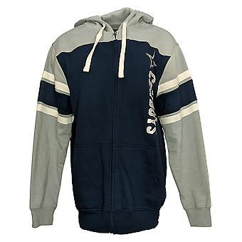 NFL Dames's Sweatshirt Dallas Full Zip Hoodie Grijs A383781