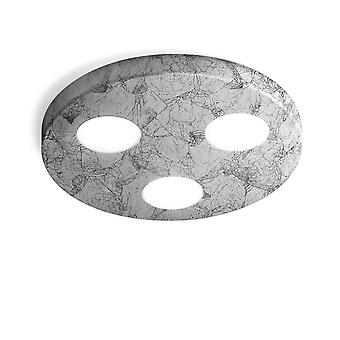 Opbouw plafondlamp - Vintage koperen afwerking, 3x GX53