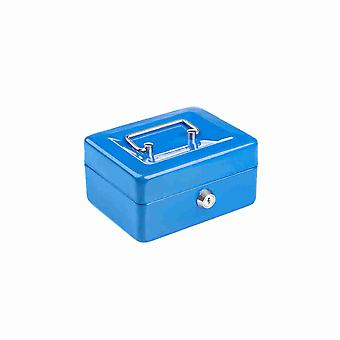 Compact Solid Steel Lockable Petty Cash Money / Valuables Safe Box - 6 Inch