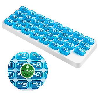 31-day 31-grid Keyboard Pillbox Pill Container Medicine Box Splitters Pill Case
