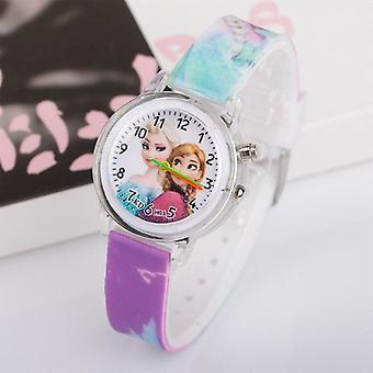 Cartoon Cute Colorful Light Silicone Quartz Watch
