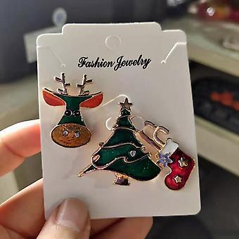 God jul Brosjer, Sokker Tre, Elk Eamel Badge, Liten Brosje, Kvinner