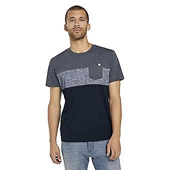 Tom Tailor Cutline T-Shirt, Sky Captain Blue, XXXL Men's