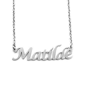 KL Matilde, Frau Halskette mit Namen, Silber, mit Namen, trendigen Schmuck, Geschenk für Freundin, Mutter, Schwester