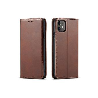 Flip Folio Ledertasche für Samsung Note 20 dunkelbraun pns-4855
