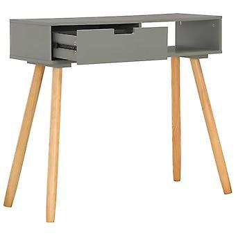 vidaXL console gris 80x30x72 cm pin massif bois