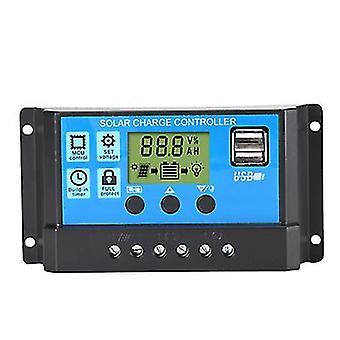 30A фотоэлектрический солнечный контроллер, интеллектуальный контроллер зарядки и разрядки цепи света az6778