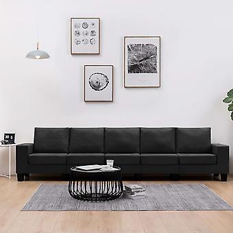 vidaXL 5-Sitzer-Sofa Schwarz Stoff