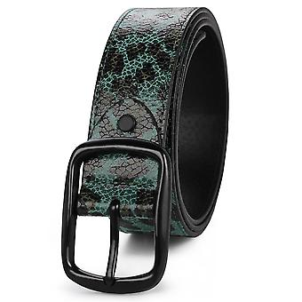 Green s 115cm imitated crackle leopard belt fashion personality all-match belt homi2926