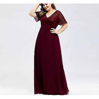 어머니 신부 드레스, 항상 예쁜 A 라인 V 넥 가운