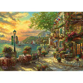 Gibsons Kinkade Français Riviera Cafe Jigsaw Puzzle (1000 Pièces)