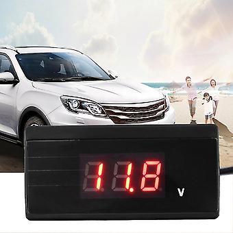 12v / 24v Mini Auto Digital Led Voltímetro medidor de batería de medidor de voltaje del coche