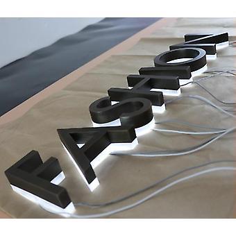 Tehtaan outlet ulkona ruostumaton teräs led 3d letter sign logo