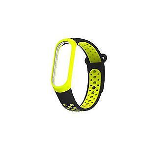 Two-Tone Smartwatch Silicone Strap for Xiaomi Mi Band 3 - Black & Dark Green