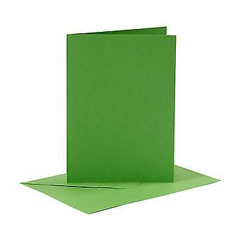 6 Groene A6-kaarten en enveloppen voor het maken van kaarten | Kaart die Spaties maakt