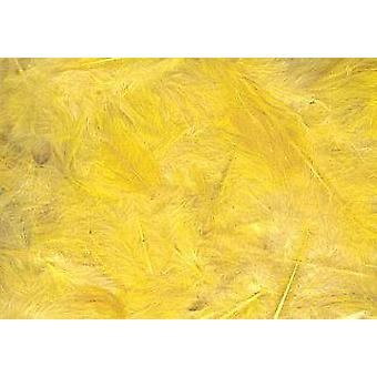 LAST FEW - 5g Yellow Fluffy Feathers for Crafts