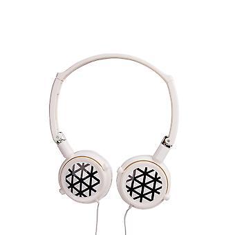 Casque nektar intra-auriculaire, couleur blanche, motifs, têtes rotatives, fonction de réduction du bruit, fonction de basses profondes,