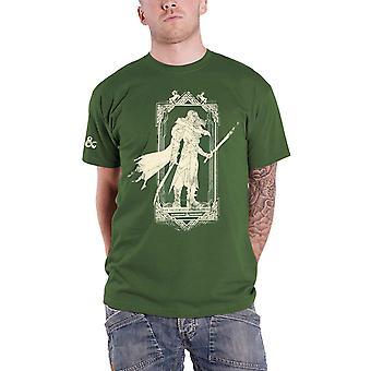 Dungeons &Dragons T Skjorte Drizzt Logo ny Offisiell Mens Green