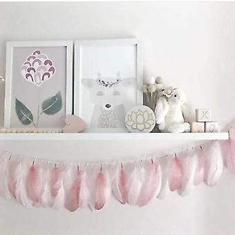 INS Indian Feather Tent Hanging Pendant Kids Decoration Baby Bed Garlands Nursery Wall Decor Photo