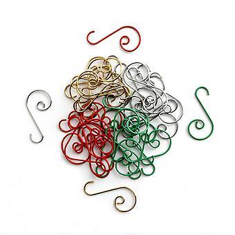 Ganchos de Navidad, 80pcs Soporte de adorno en forma de S para Party Xmastree Colgante Sccessories
