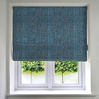 Teksturowane szenilowe dżinsowe niebieskie żaluzje rzymskie