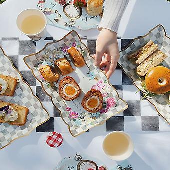 Afternoon Tea Food Platter Plate   Alice in Wonderland Wedding Birthday Party x4
