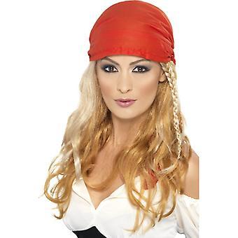 Pirat paryk med grisehale blond kvinder med tørklæder sørøver pirat paryk