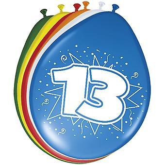 Colorful balloons balloon number 13 birthday 8 St. decoration balloons party