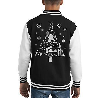 Kerstboom Sherlock Holmes Kid's Varsity Jacket