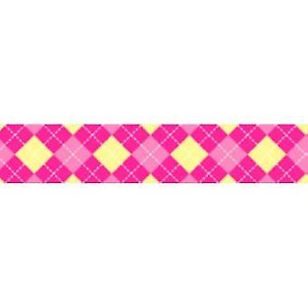 Tuff Lock Kragen große Argyle Pink