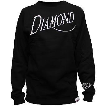 Diamond Supply Co vanha kirjoitus paita musta