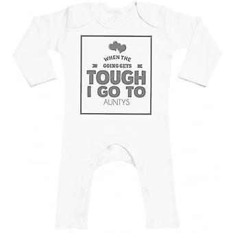 Spoilt Rotten When Tough I Go To Aunys Baby Footless Romper