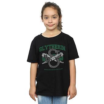 Harry Potter Girls Slytherin Quidditch Emblem T-Shirt