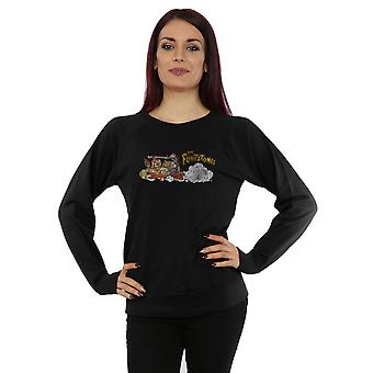 The Flintstones Women's Family Car Distressed Sweatshirt