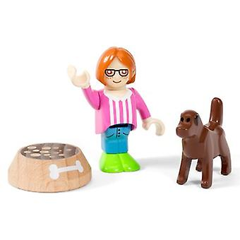 BRIO Village Figure and Dog 33952