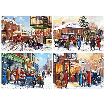 Gibsons Winter über Stadt Jigsaw Puzzle (4 x 500 Stück)