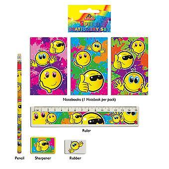 Smiley 5-Piece Stationery Set