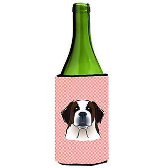 لوح شطرنج الوردي سانت برنارد النبيذ زجاجة المشروبات عازل نعالها