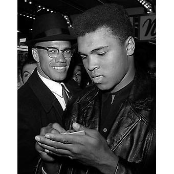 Muhammad Ali og Malcolm X NYC marts 1 1964 plakat Print af McMahan fotoarkiv (8 x 10)