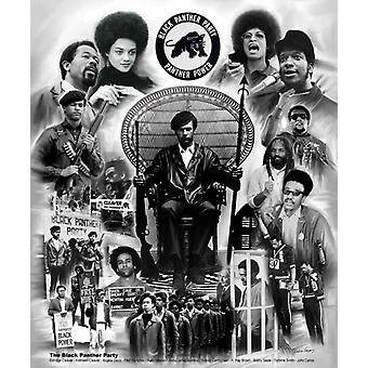 Black Panther Party affisch Skriv ut av Wishum Gregory (20 x 24)