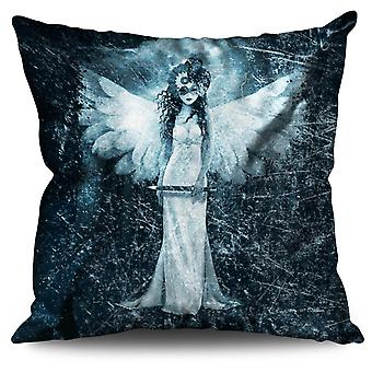 Angel Metal Rock Horror Linen Cushion 30cm x 30cm | Wellcoda