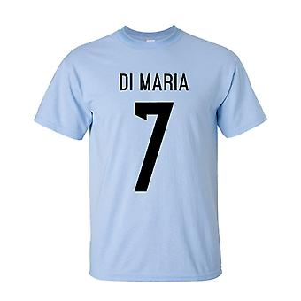 Angel Di Maria Argentina Hero T-shirt (sky)