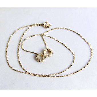 Golden Infinity necklace with cubic zirconia