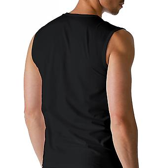 Mey 46137-123 mannen droog katoen zwart effen kleur Tank Vest Top
