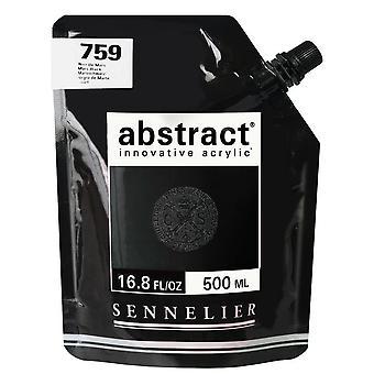 Sennelier Abstract innovatieve acrylverf 500ml (759 Mars zwart)