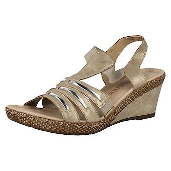 Ladies Remonte Wedge Sandals D0457