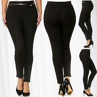 Ladies Leggings Oversize Jeggings Stretch Pants BigSize Trousers Plus Size Jeans